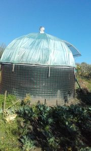 Biomeiler with Green House on top